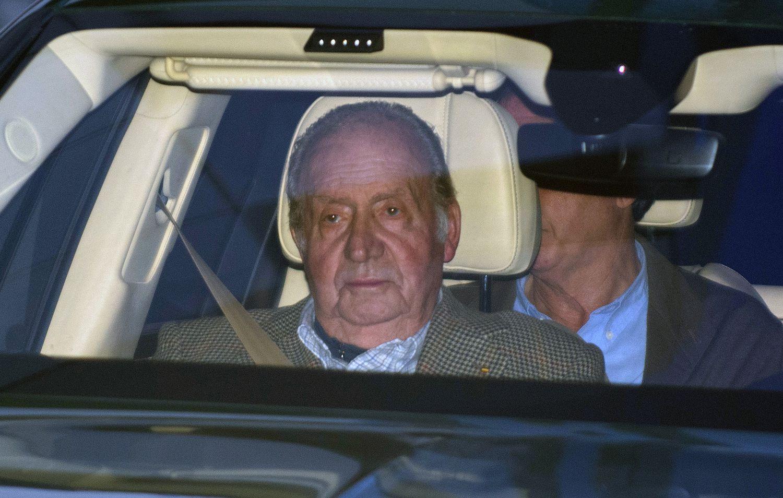 Juan Carlos I, em janeiro, quando foi visitar sua sobrinha Simoneta Gómez Acebo, que estava hospitalizada.