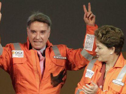 O empresário Eike Batista e a presidente Dilma, em abril de 2012.