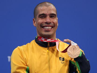 Daniel Dias estreou em Tóquio com uma medalha de bronze nos 200 metros livre da classe S5.