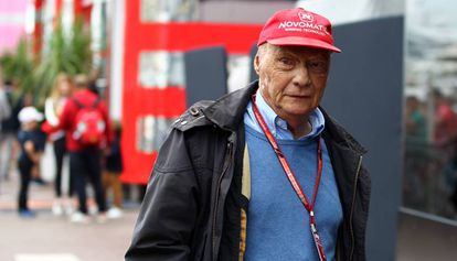 Niki Lauda, durante o Grande Prêmio de Mônaco em 2018.
