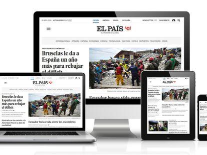 Site do EL PAÍS estreia versão que se adapta a qualquer dispositivo