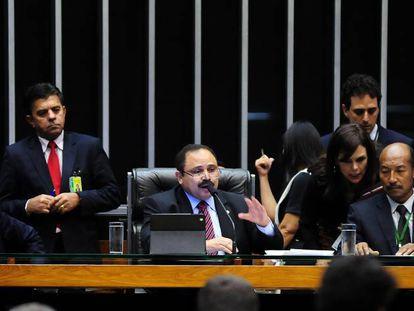 Waldir Maranhão em sessão da Câmara.