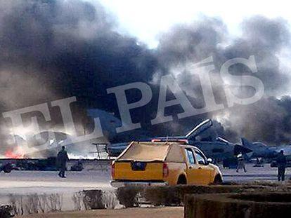 Dez mortos e 19 feridos em acidente com um caça F-16 grego na Espanha