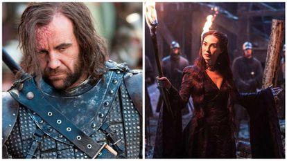 'Cão de Caça' e Melisandre.
