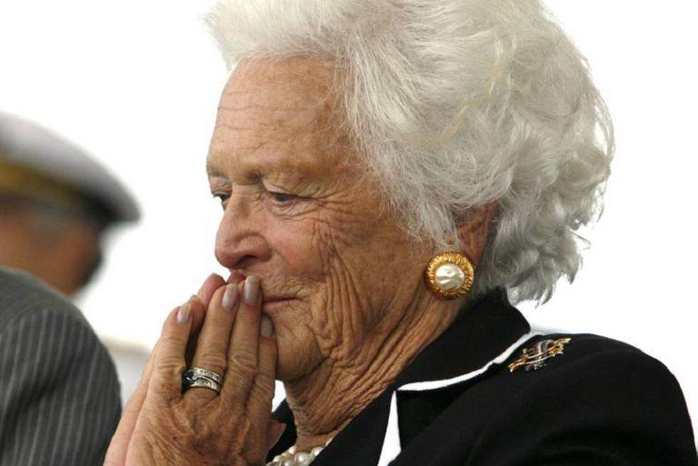 A ex-primeira-dama Barbara Bush em um evento público na Virginia em outubro de 2007.