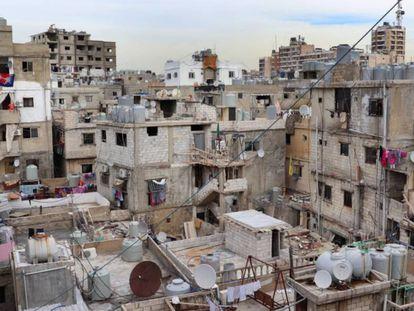 Vista do campo de refugiados de Shatila, perto de Beirute.