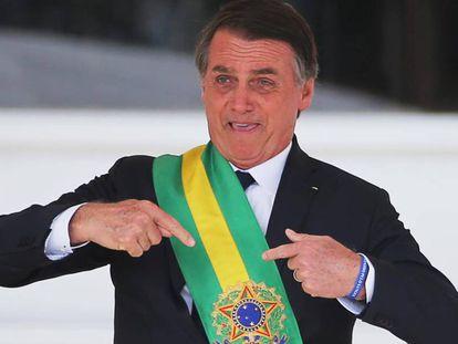 Presidente Jair Bolsonaro durante posse em janeiro.