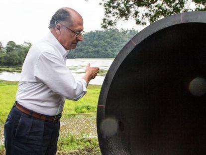O Governador Alckmin na inauguração da obra do Alto Tietê.