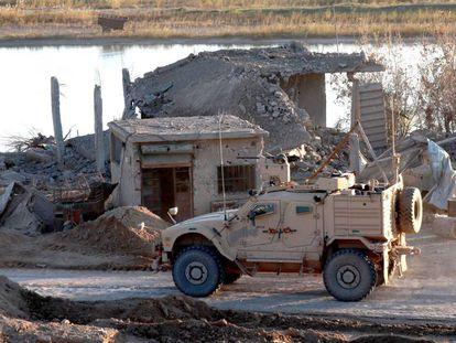 Um veículo do Exército dos EUA na Síria