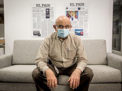 Germán Efromovich na redação do EL PAÍS, em São Paulo.