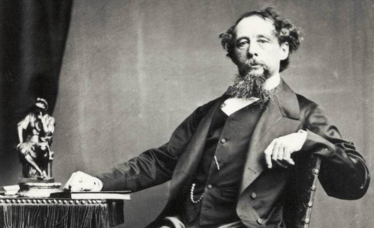Retrato do romancista britânico Charles Dickens