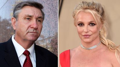 À esquerda, Jamie Spears, o pai de Britney Spears. À direita, a cantora.
