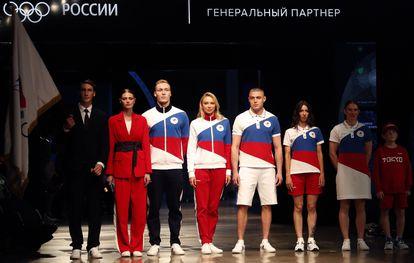 Uniforme oficial da equipe do Comitê Olímpico Russo para Tóquio-2020.