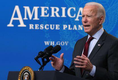O presidente dos EUA, Joe Biden, nesta segunda-feira em Washington.