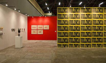 Algumas das obras expostas na ArtBo.