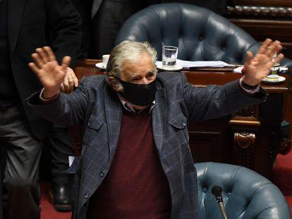 O ex-presidente do Uruguai José Mujica se despede nesta terça-feira do Senado.