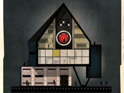 E se Hitchcock, Kubrick e Fellini trocassem fotogramas por fachadas? Essa é a pergunta que o ilustrador italiano Federico Babina se fez, imaginando como seriam as casas dos cineastas mais míticos da história do cinema. Nesta que abre a fotogaleria, o 'arquidiretor' Kubrick integra o olho de Hal 9000, o robô assassino de '2001. Uma odisseia no espaço', à fachada imaginária de sua casa.