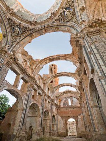 Ruínas do velho povoado de Belchite, na província de Saragoça.