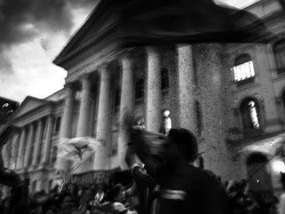 Prédio histórico da UFPR, em Curitiba, cenário de uma série de manifestações plurais.