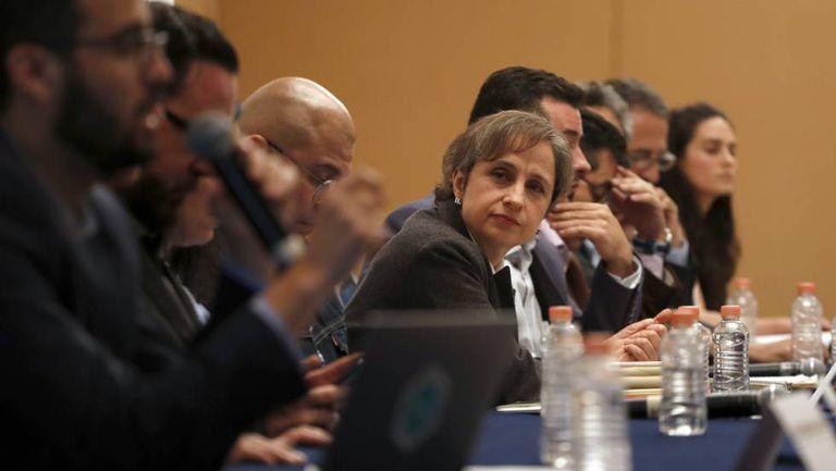 Carmen Aristegui e outras das vítimas da espionagem do Governo mexicano.