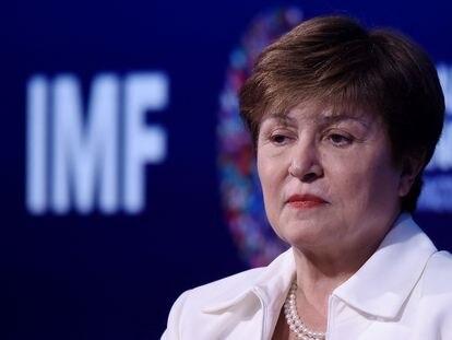 Kristalina Georgieva, em outubro de 2019 durante a reunião de outono do FMI e do Banco Mundial em Washington.