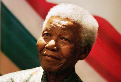 O ex-presidente da África do Sul Nelson Mandela.