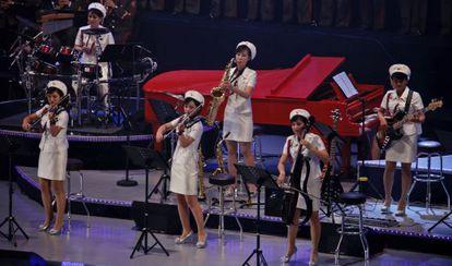 Moranbong, no palco.