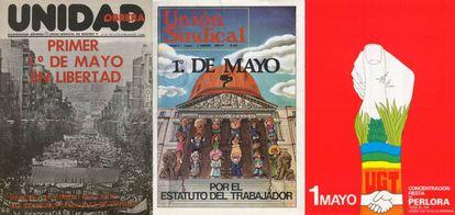 Dia do Trabalho: cartazes expostos na amostra 'O 1º de maio e a democracia (1975-1985)'