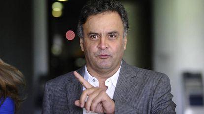 O senador Aécio Neves, que deve ser beneficiado pela decisão do STF.
