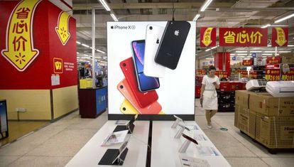 iPhones numa loja em Pequim
