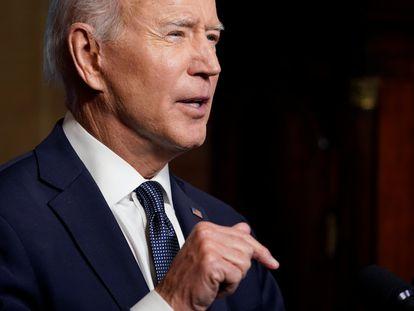 Presidente dos EUA, Joe Biden, nesta quarta-feira na Casa Branca/