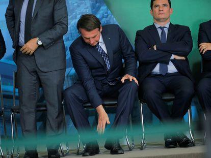 Bolsonaro e Moro em dezembro, em Brasília.