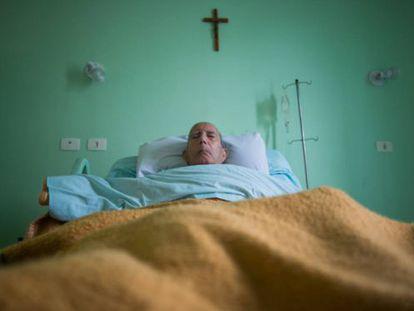 Hilário Fernandes, no hospital.