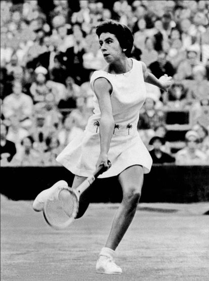 Foto sem data de Maria Esther Bueno, campeã de quase duas dezenas de títulos internacionais.