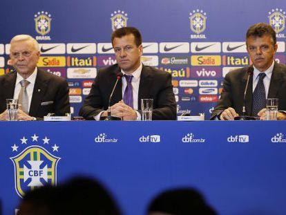 José Maria Marin, Dunga e Gilmar Rinaldi.