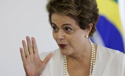 Dilma no Palácio do Planalto no dia 18.