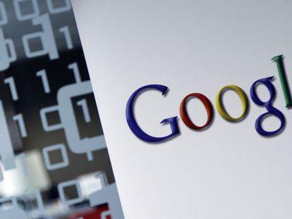 O logo do Google, em sua sede de Bruxelas.
