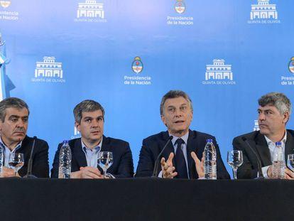 O presidente da Argentina, Mauricio Macri, numa entrevista coletiva em outubro.