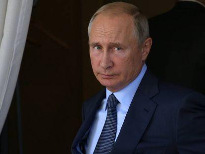 Vladimir Putin nesta quarta-feira em sua residência de Sochi.