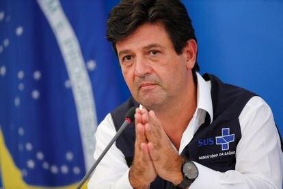 Luiz Henrique Mandetta em 3 de abril, duas semanas antes de ser demitido do Ministério da Saúde.