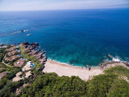 Vista aérea de Punta Mita, um dos destinos mais caros e luxuosos do México.