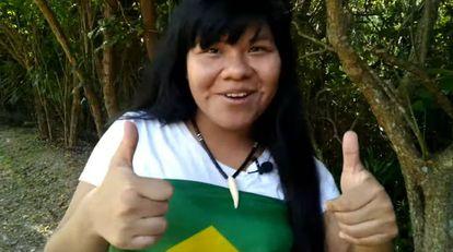 A indígena Ysani Kalapalo é defensora do governo Bolsonaro.