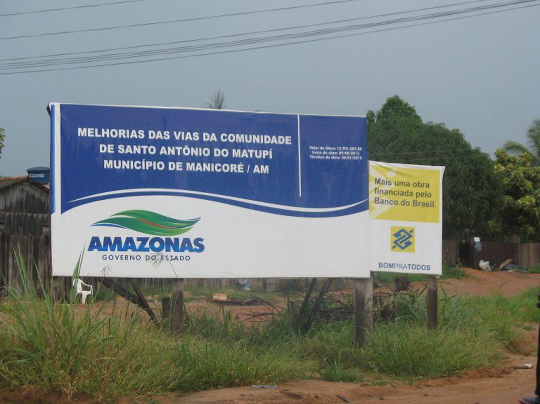Imagem de arquivo de um vilarejo no Amazonas que deveria ser um assentamento.