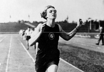 A alemã Lina Radke nos Jogos de Amsterdã 1928. GETTY