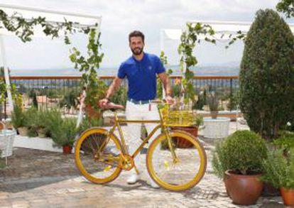 Lorenzo Martone durante a apresentação de suas bicicletas em Madri.