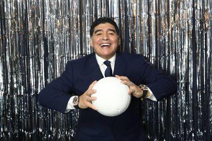 Maradona em sua última aparição pública, na segunda-feira, em Londres, na cerimônia do 'The Best'.