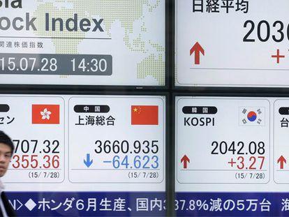 Bolsa chinesa volta a cair.