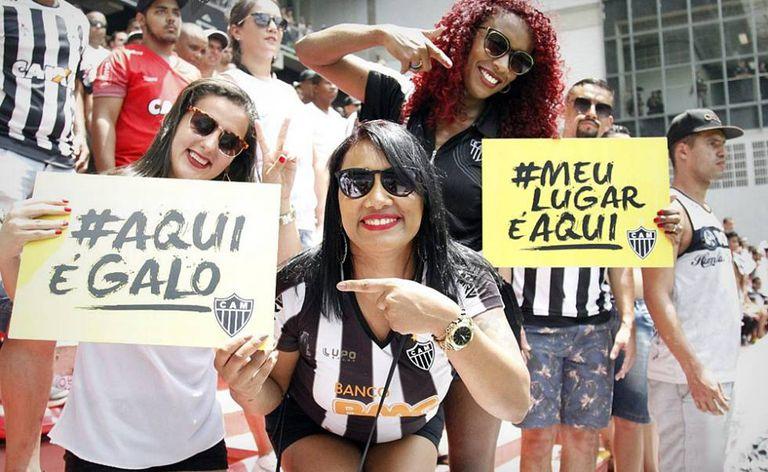 Torcedoras do Atlético participaram de campanha no último domingo.