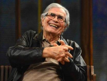 O ator Tarcísio Meira, durante entrevista na Rede Globo.