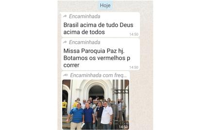 Reprodução de mensagens de militantes bolsonaristas sobre boicote ao padre Lino Allegri.